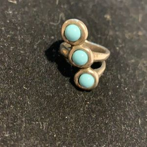 Uno de 50 turquoise stone silver ring Size 8